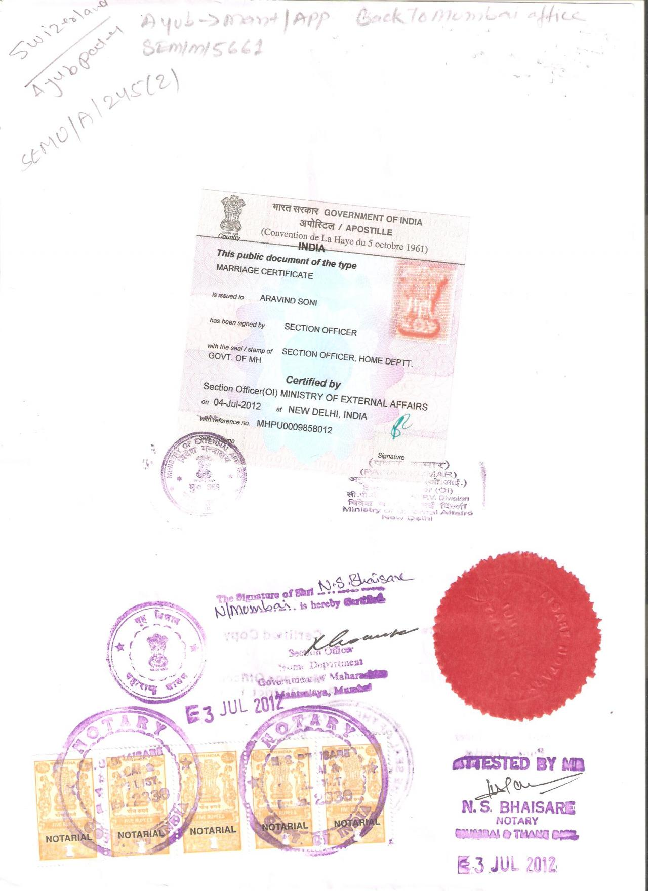 Document Attestation Apostille Service In Chennai Mea In Chennai